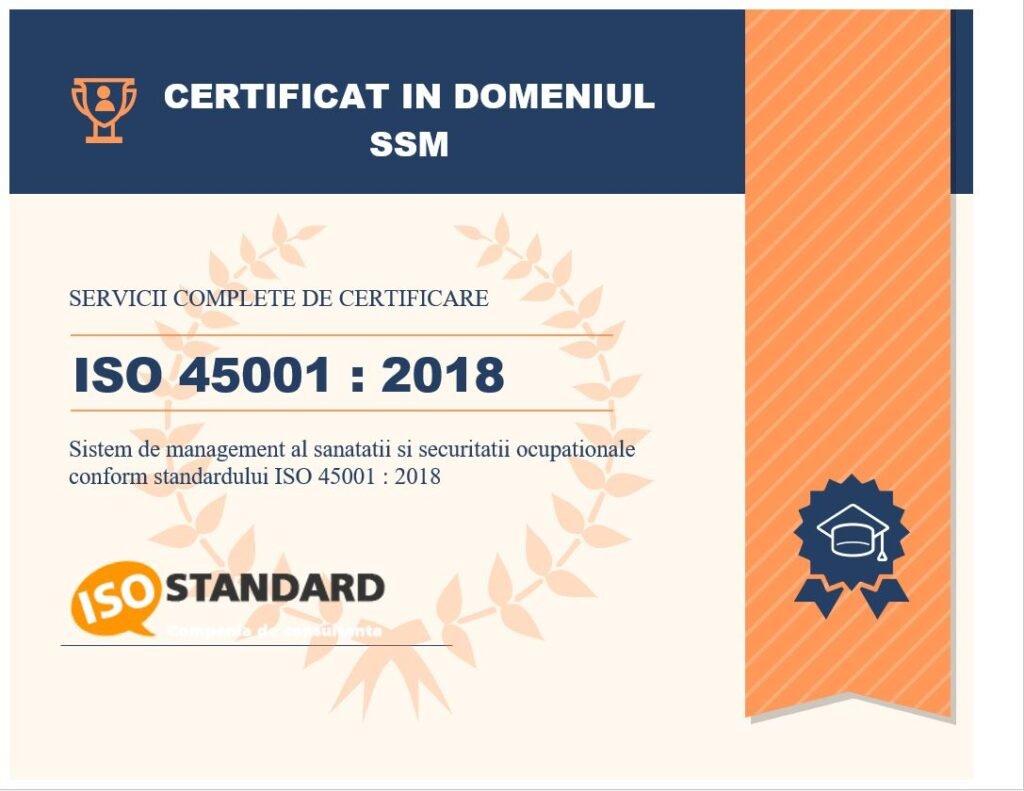 certificare iso 45001