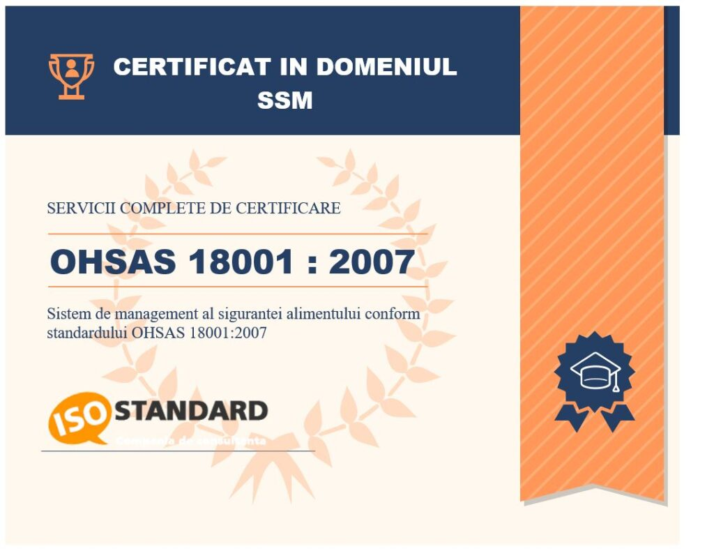 certificare iso 18001 ohsas