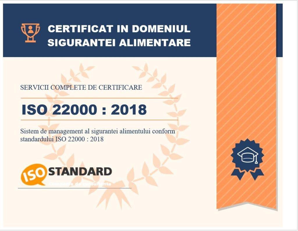 certificare iso 22000