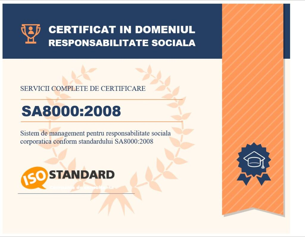 Certificare SA 8000 - Responsabilitate Sociala